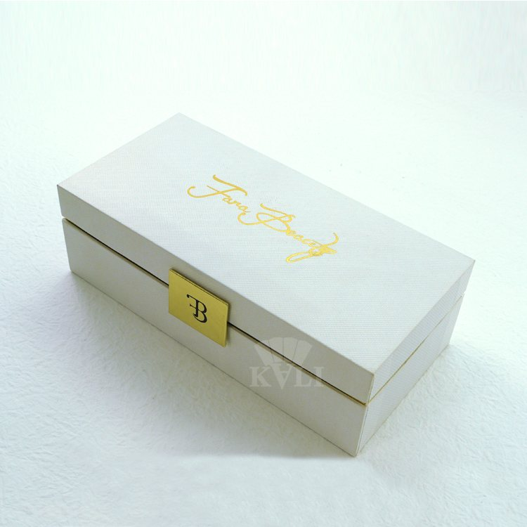 White fancy paper cosmetic box