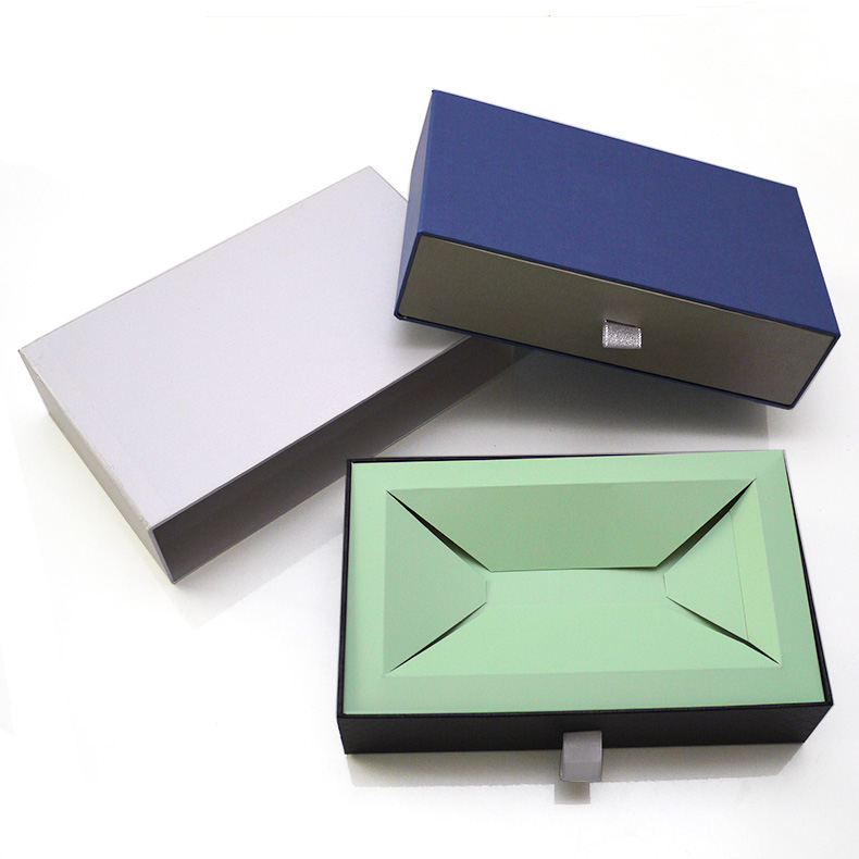 cardboard sliding gift drawer box packaging set