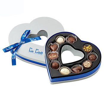 Empty Heart Shaped Chocolate Box