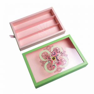 Transparent Cardboard Chocolate Box