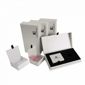 2 Pieces Cardboard Luxury Cosmetic Boxes
