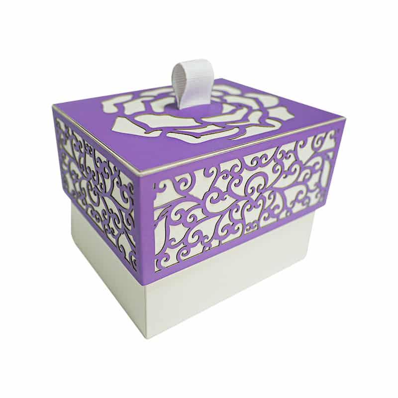 Paper Laser Cut Favor Box With Lid