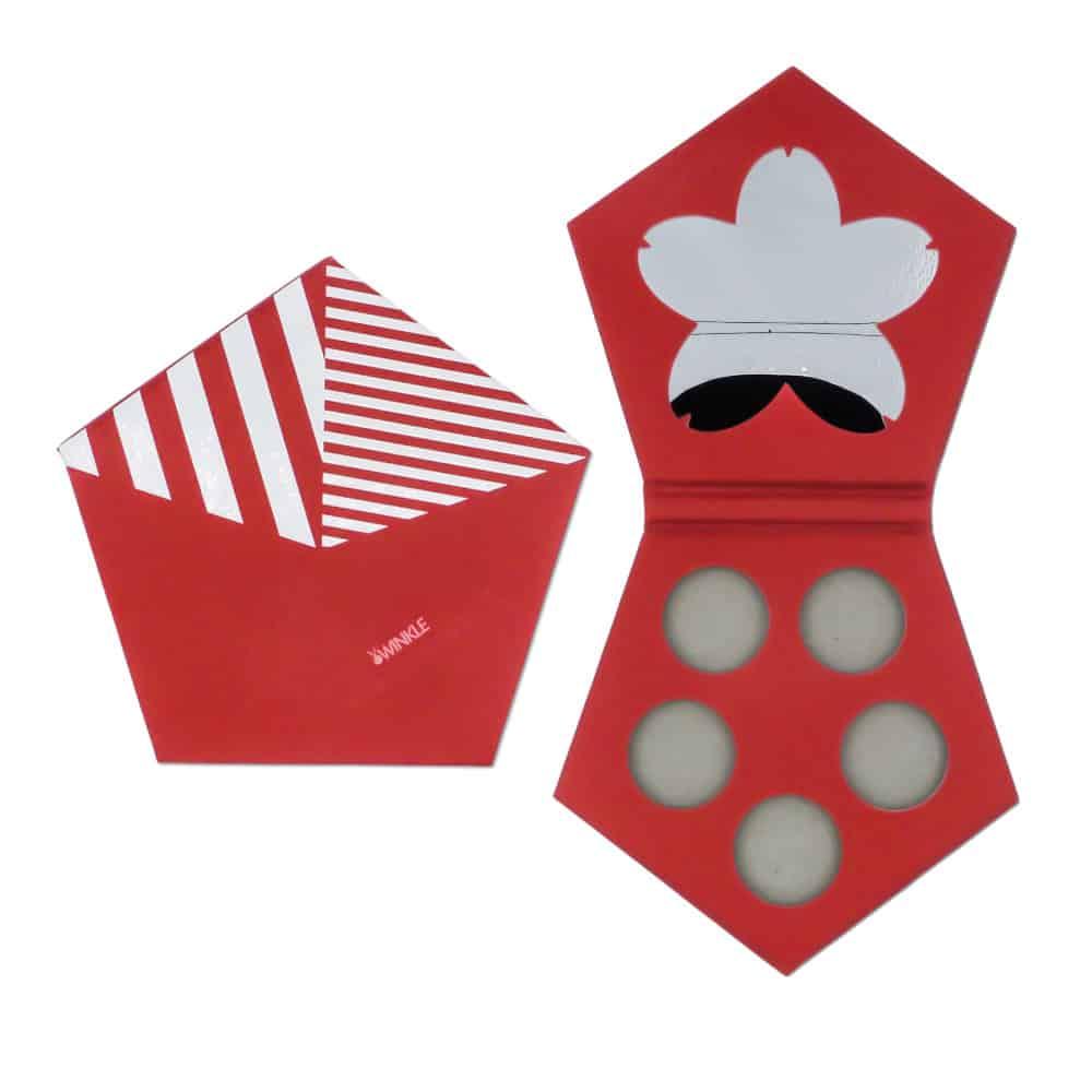 Fashion Pentagon Eyeshadow Palette Packaging