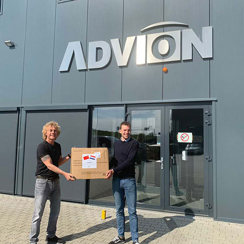 100K disaposable mask was donated to the Dutch healtcare organisation Stichting Cordaan