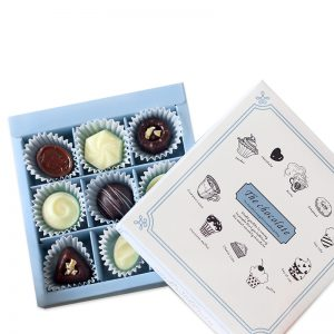 Truffle Packaging Box with Paper Insert