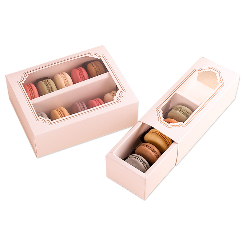 Macaron Box with Clear Window