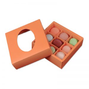 Rigid Macaron Packaging Box with Plastic Window