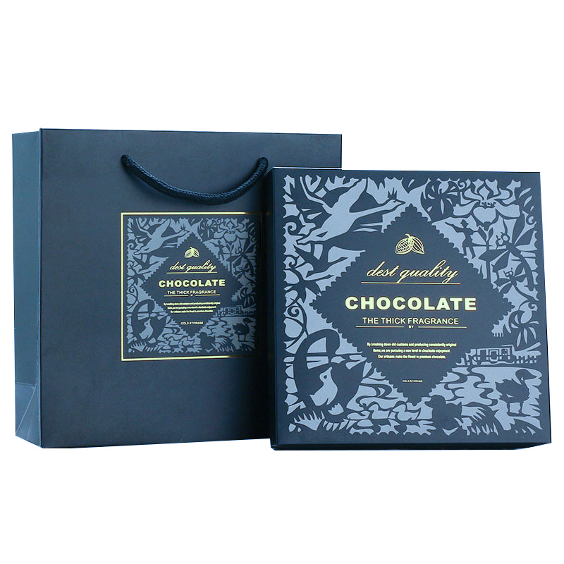 Square Chocolate Gift Boxes with Inserts