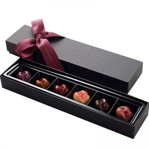 Elegant Chocolate Packaging Box with Ribbon