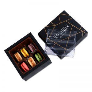 Small Black Macaron Packaging Box Set