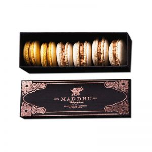 Black Rigid Paper Packaging Box for Macarons
