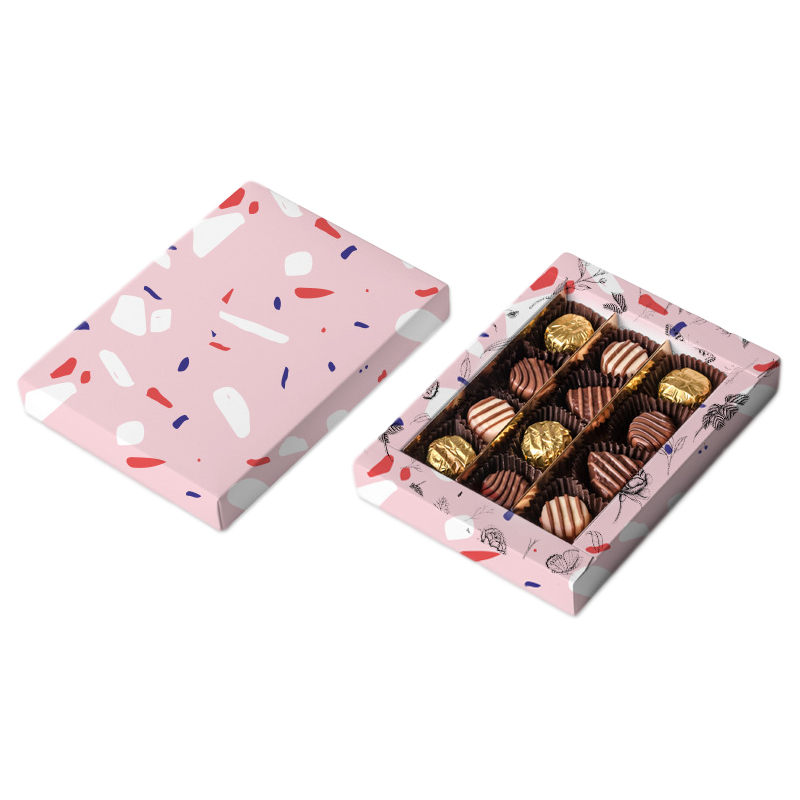 Lid-Bottom Chocolate Boxes With Inserts
