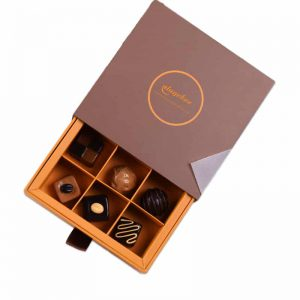 Square 3x3 Paper Chocolate Packaging Box