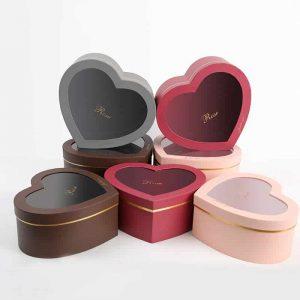 Heart Shape Flower Gift Boxes
