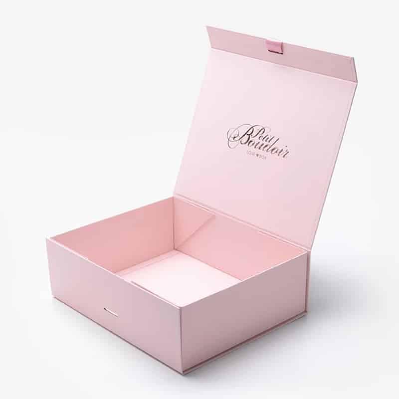 Pink Folding Present Box