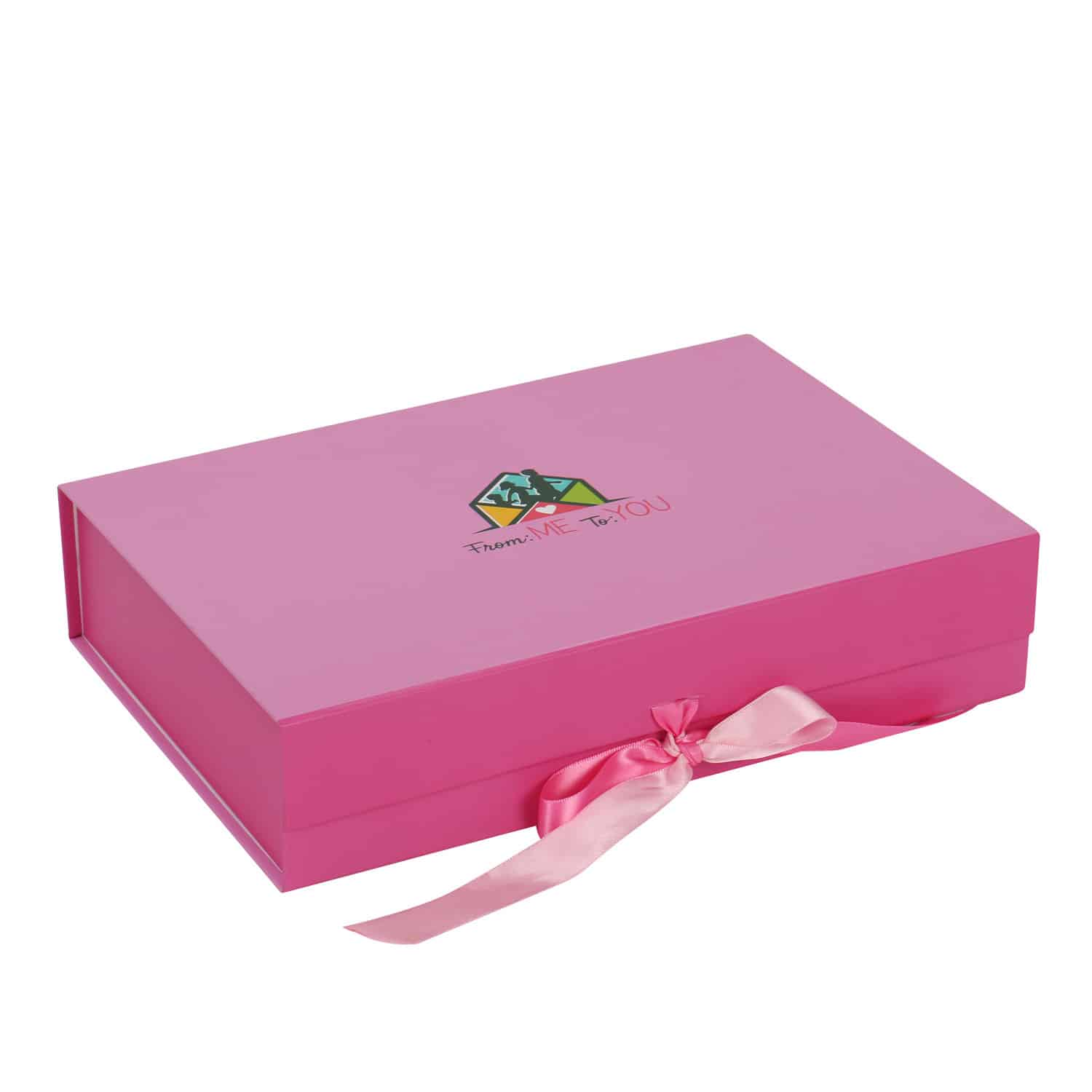 Foldable Package Box With Ribbon Lock