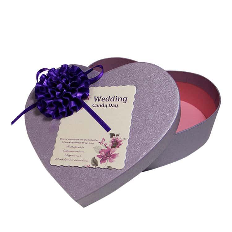 Heart Shape Wedding Invitation Gift Boxes