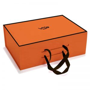 Orange Fold Up Rigid Boxes
