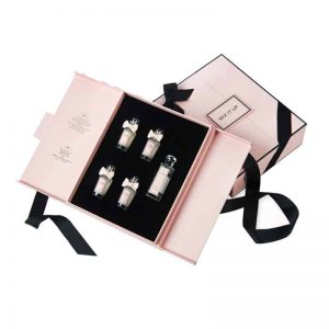Large Perfume Gift Set Packaging Box With Ribbon