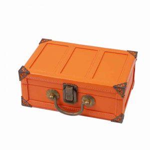 Vintage MDF Wood Perfume Suitcase Box