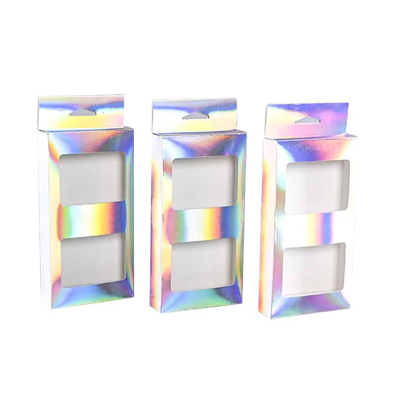 Holographic Hang Tab Box With Window