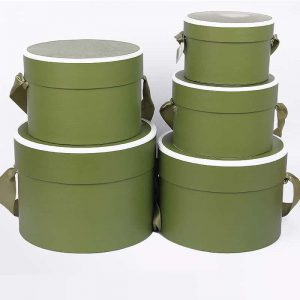 Lid-Bottom Round Flower Packaging Boxes