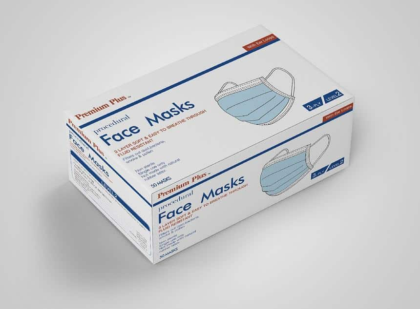 Best Face Mask Packaging Box For Fabric, FFP2/N95 Disposable, Surgical Masks