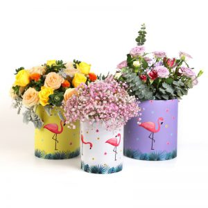 Cylinder Rigid Cardboard Floral Packaging Boxes