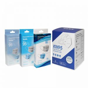 Disposable Mask Packaging Box with Hanger Tab