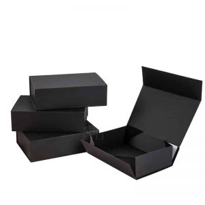 Black Collapsible Box Package