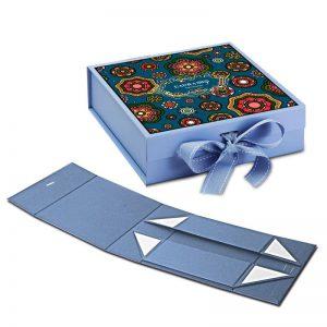 Fold Over Box With Ribbon Closure