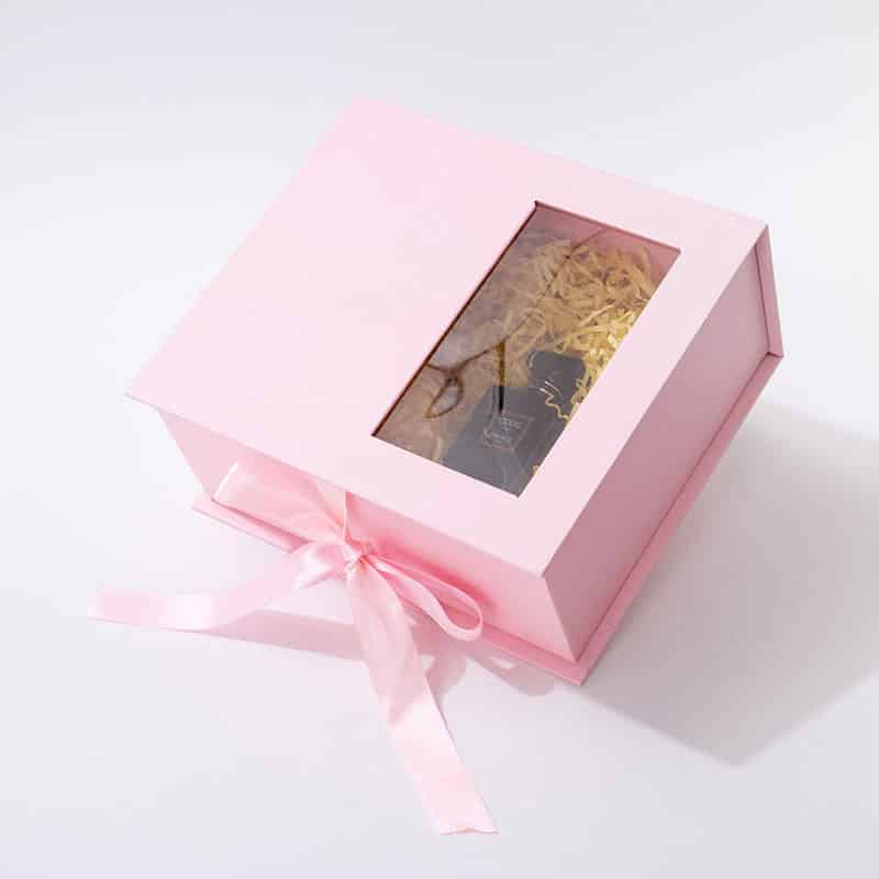 Book Shaped Flower Gift Box With Window