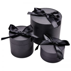 Round Black Roll Packaging Box