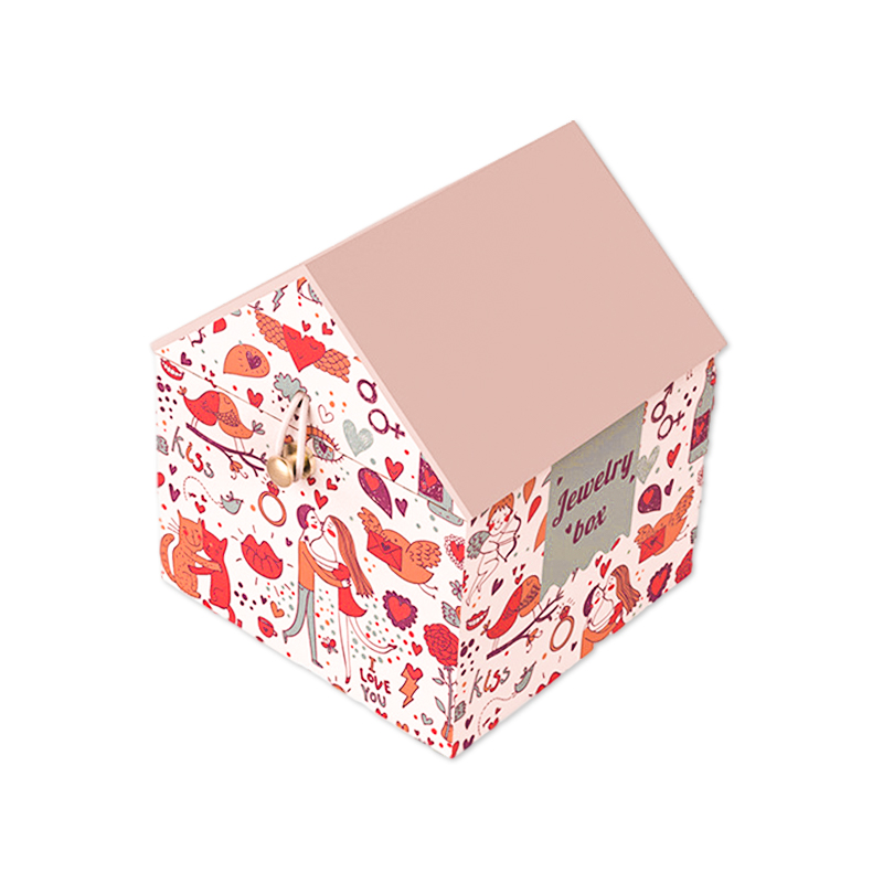 House-Shaped Hinged Jewelry Gift Boxes