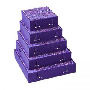 Purple Velvet Decorative Boxes
