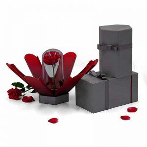 Hexagonal Cardboard Flower Gift Boxes