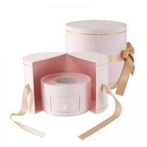 Round Gift Box For Flower