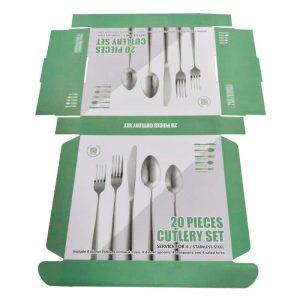 Flatware Forks Knives Spoons Paper Box