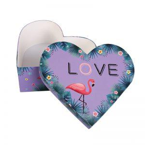 Flower Gift Box Heart Shape